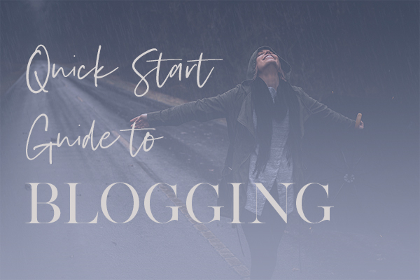 Free Quick Start Guide To Blogging